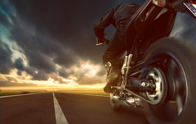 Fotomural Speeding Motorcycle