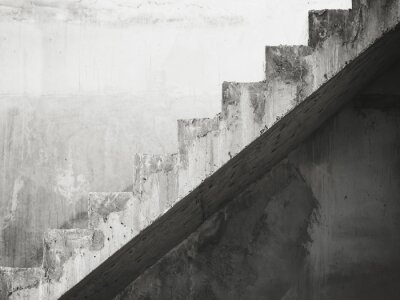 Fotomural Stairs Architecture details building Black and White
