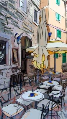 Fotomural Street, em Roma - ilustração