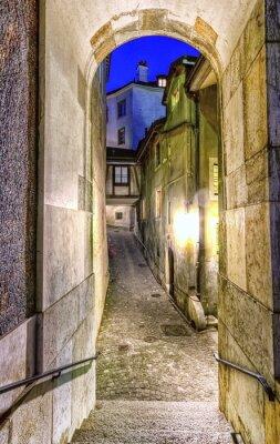 Fotomural Street in old city, Geneva, Switzerland