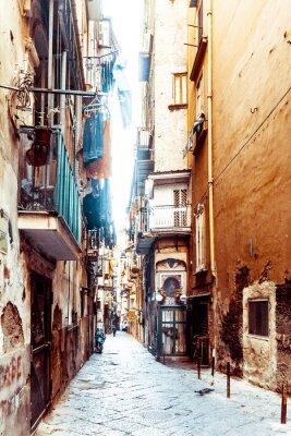 Fotomural Street view da cidade velha na cidade de Nápoles
