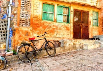 Fotomural Street view de antigos bairros em Jodhpur cidade na Índia