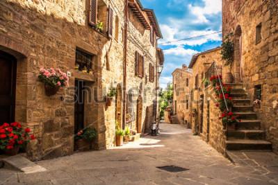 Fotomural streets of Italian city, Tuscany, Italy