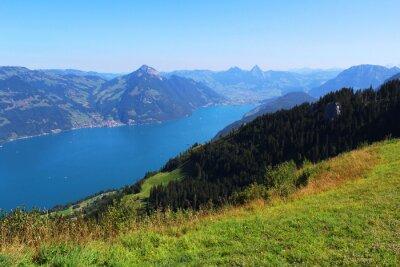 Fotomural Suíça, montanha e lago