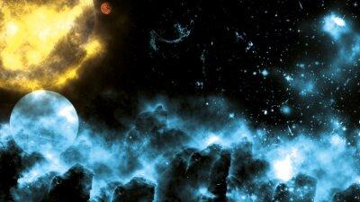 Fotomural Sun / Galaxy Spacefog