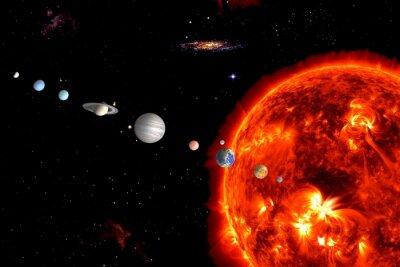 Fotomural Sun System, Elementos são fornecidos pela NASA