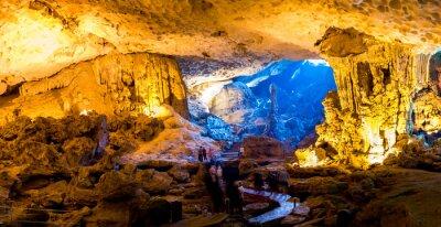 Fotomural Sung Sot Cave em Halong Bay, Vietnã