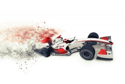 Fotomural Superfast 3D carro de corrida genérico