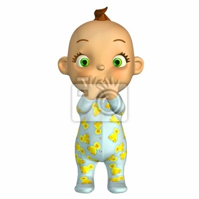 surpreendido dos desenhos animados do bebê fotomural fotomurais