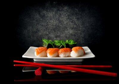 Fotomural Sushi com pauzinhos