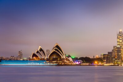 Fotomural SYDNEY - 12 DE OUTUBRO DE 2015: A ópera icônica de Sydney é um mu