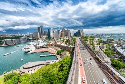Fotomural SYDNEY - 7 DE NOVEMBRO DE 2015: Vista panorâmica da cidade. Sydney atrai