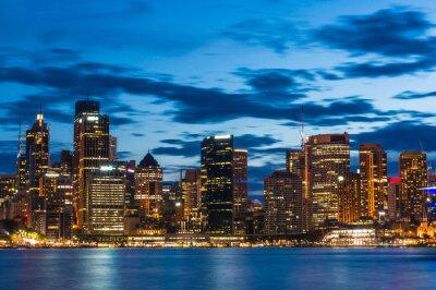 Fotomural Sydney Central Business District à noite