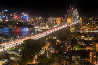 Fotomural Sydney, porto, ponte, noturna