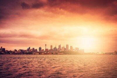 Fotomural Sydney, Skyline, pôr do sol