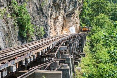 Fotomural Tailandês, trem, Rio, Kwai, ponte, Kanchanaburi, tailandia