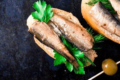 Fotomural Tapas com peixes