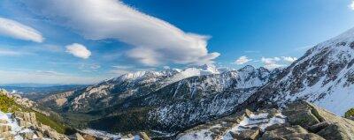 Fotomural Tatra montanhas bruxa nuvens bonitas