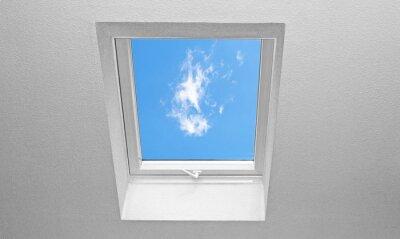 Fotomural Telhado inclinado com janelas