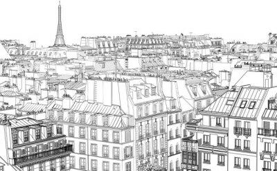 Fotomural telhados em Paris