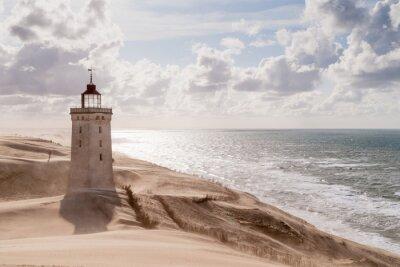 Fotomural Tempestade de areia no farol