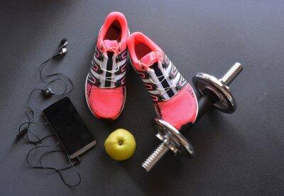 Fotomural tênis, roupas para fitness