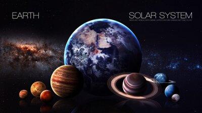 Fotomural Terra - 5K resolução Infográfico apresenta um do planeta sistema solar. Esta imagem elementos fornecidos pela NASA