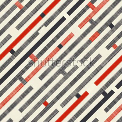 Fotomural Teste padrão abstrato sem alteração com listras diagonais no fundo da textura nos núcleos retros. Padrão sem fim pode ser usado para telha cerâmica, papel de parede, linóleo, têxteis, fundo da página