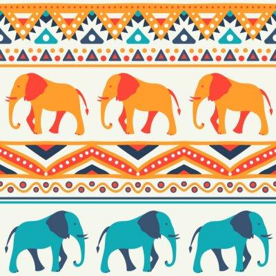 Fotomural Teste padrão animal sem emenda do vetor do elefante
