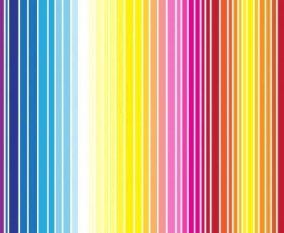 Fotomural Teste padrão brilhante sem emenda da listra da cor completa. Ilustração vetorial f