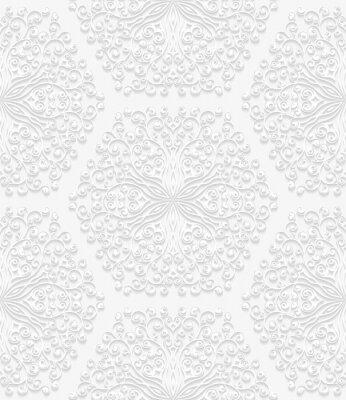Fotomural Teste padrão floral sem emenda no estilo tradicional