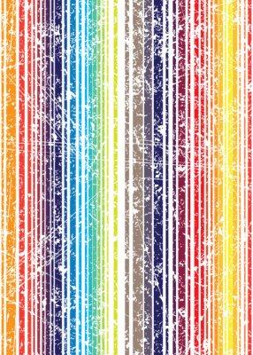 Fotomural Teste padrão gasto da listra da cor cheia do estilo brilhante sem emenda do grunge. V