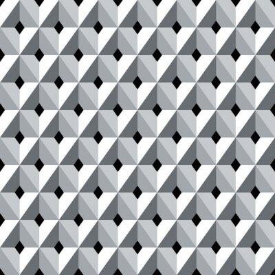 Fotomural Teste padrão geométrico sem emenda dos diamantes 3d.