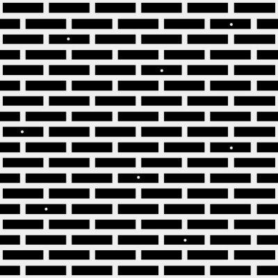 Fotomural Teste padrão minimalistic preto e branco geométrico simples, tijolo. Pode ser usado como papel de parede, fundo ou textura.