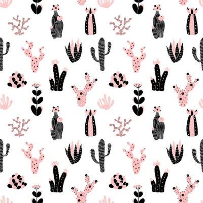 Fotomural Teste padrão preto e cor-de-rosa