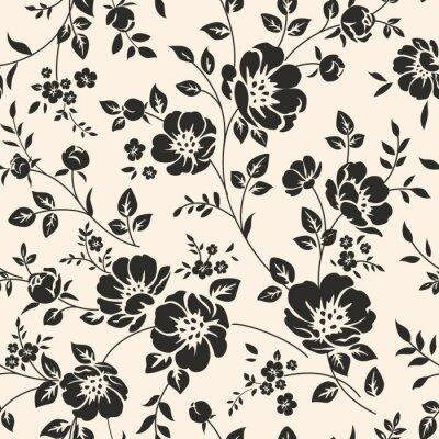Fotomural Teste padrão sem emenda com flores.