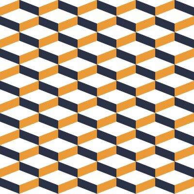 Fotomural Teste padrão sem emenda da ilusão geométrica amarela
