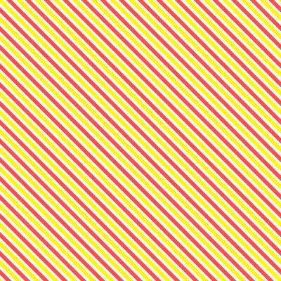Fotomural Teste padrão sem emenda da listra diagonal. Linha amarela e vermelha clássica geométrica fundo.
