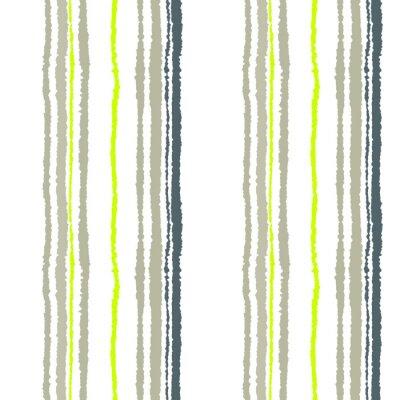 Fotomural Teste padrão sem emenda da tira. Linhas verticais com efeito de papel rasgado. Fundo da borda do fragmento. Cores frias macias, azeitonas, brancas. Tema do inverno. Vetor