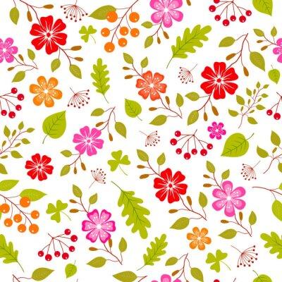 Fotomural Teste padrão sem emenda das flores coloridas