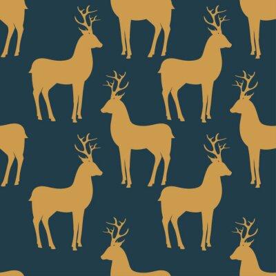 Fotomural Teste padrão sem emenda do vetor com cervos