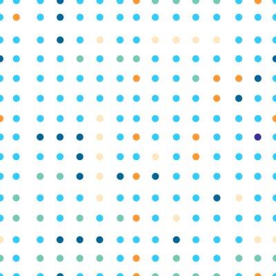 Fotomural Teste padrão sem emenda do vetor dos às bolinhas. Pontos de cores diferentes.