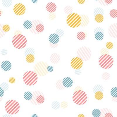 Fotomural Teste padrão sem emenda do vintage delicado do vetor com pontos coloridos.