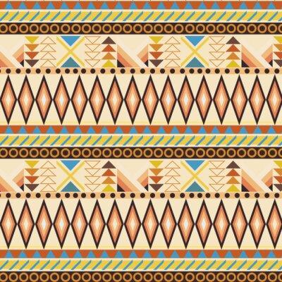 Fotomural Teste padrão sem emenda étnico tribal da listra. amostras incluídas.