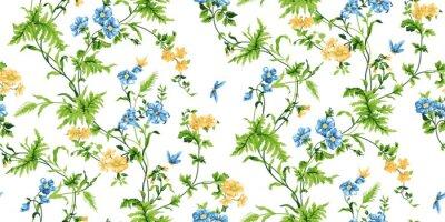 Fotomural Teste padrão sem emenda floral do eco