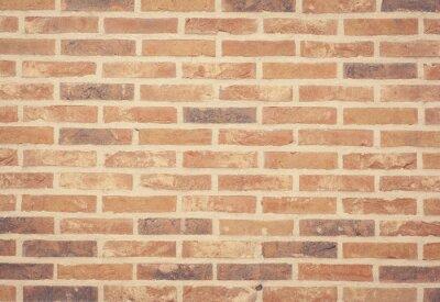 Fotomural Textura da parede de tijolo de pedra marrom e fundo sem emenda.