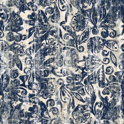 Fotomural Textura de aquarela floral repetir padrão moderno
