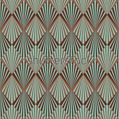Fotomural Textura de padrão sem emenda de estilo Art Deco
