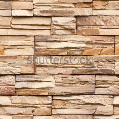 Fotomural textura de parede de pedra sem costura e fundo