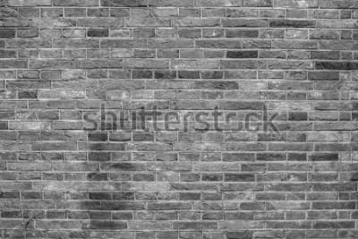 Fotomural Textura de parede de tijolos cinza.